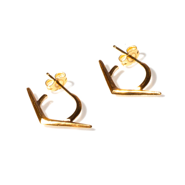 Petite Ray Hoops Gold
