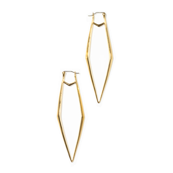 Ray Pincer Earrings Brass