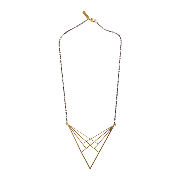 Spectrum Pendant Short Brass