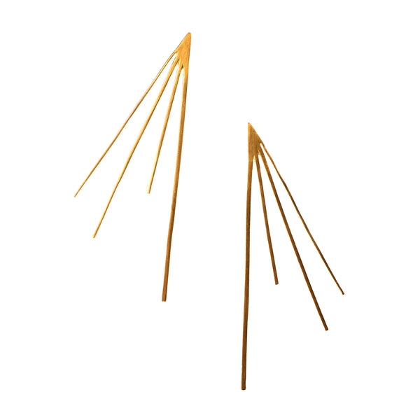 Large Flare Studs Brass