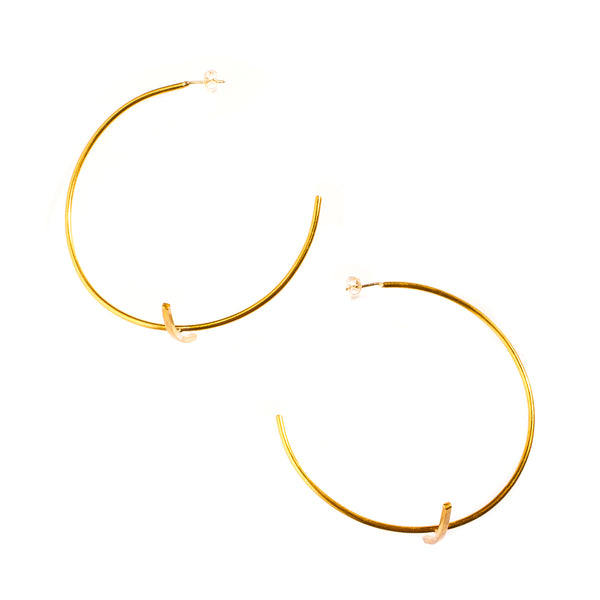 Large Bisecting Hoops Brass