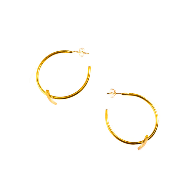 Small Bisecting Hoops Brass