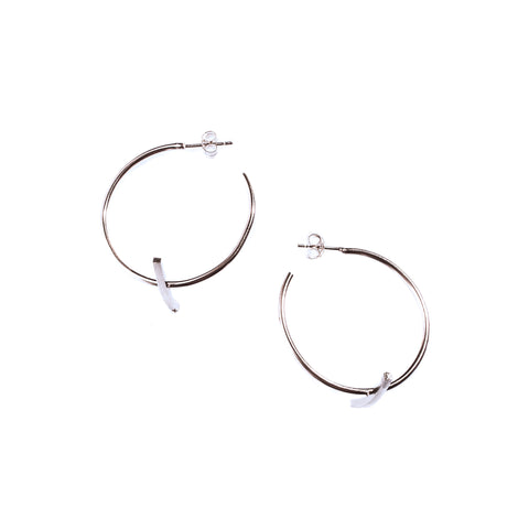 Small Bisecting Hoops Sterling