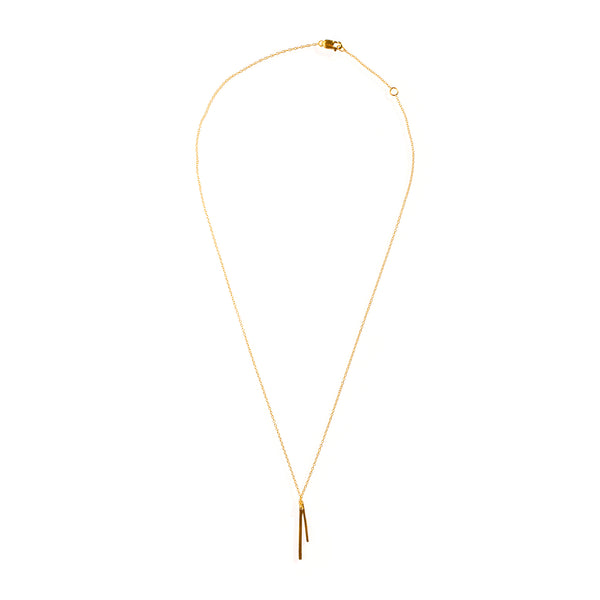 Petite Flare Necklace Yellow Gold