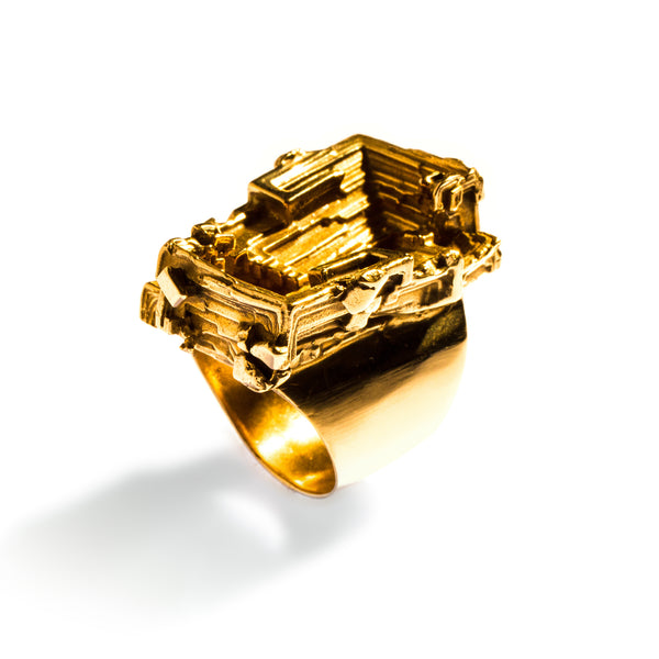 Bismuth Ring Brass