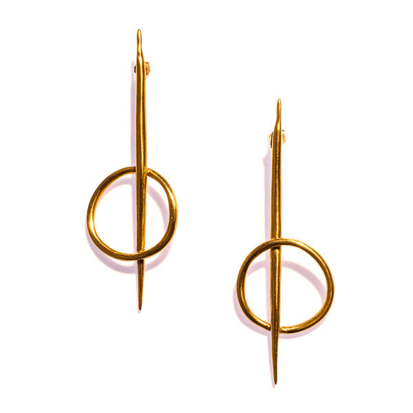 Quill Rising Studs Brass