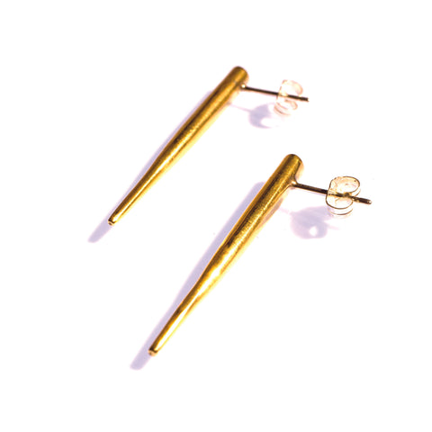 Large Quill Spike Studs Brass