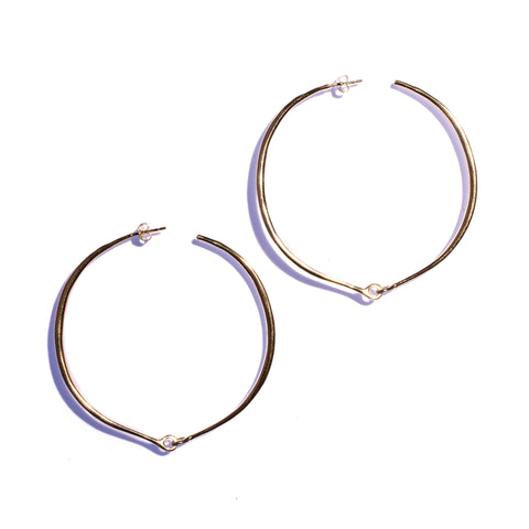 Large Hinged Hoops Sterling