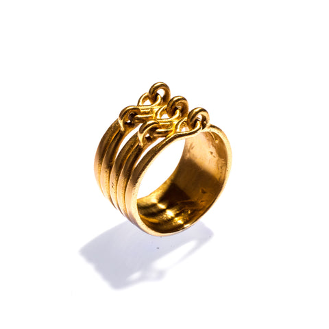 Stacked Hinged Ring Brass