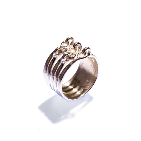 Stacked Hinged Ring Sterling