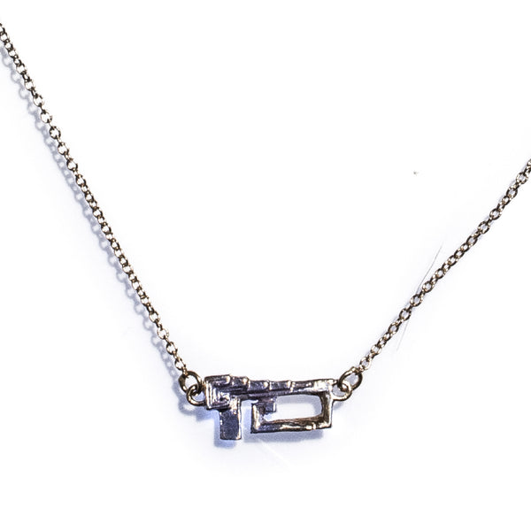 Petite Bismuth Necklace Sterling