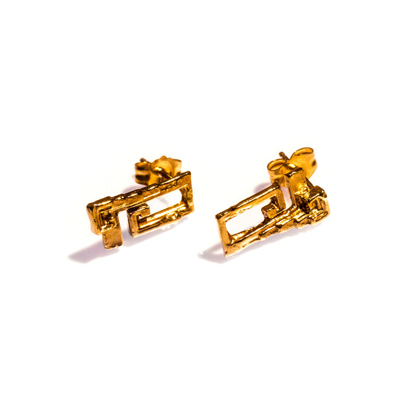 Petite Bismuth Studs Yellow Gold