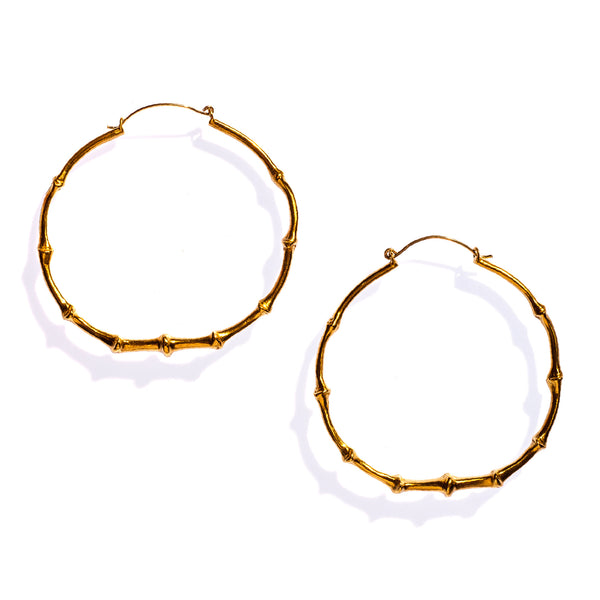 Bat Tail Hoops Brass