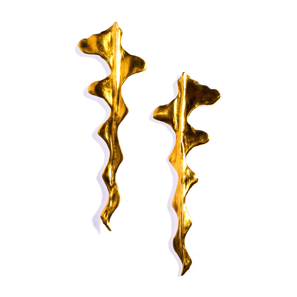 Ric Rac Earrings Brass