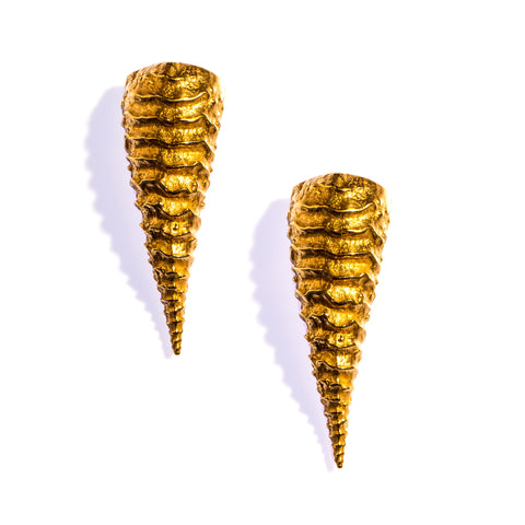 Large Haworthia Studs Brass
