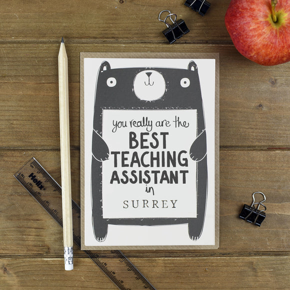 Best Teaching Assistant Personalised Thank You Card