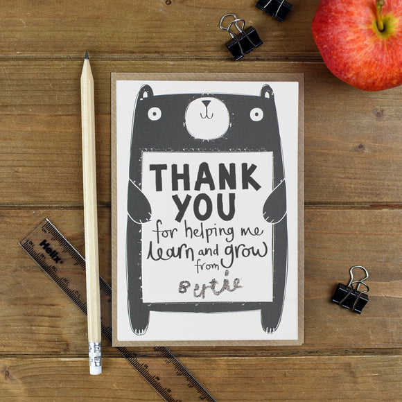Learn and Grow Thank You Teacher Card