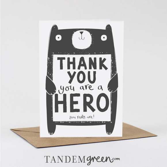 Hero Thank you Card