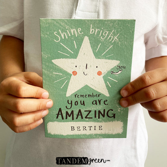 Personalised Back To School Card & Pocket Star