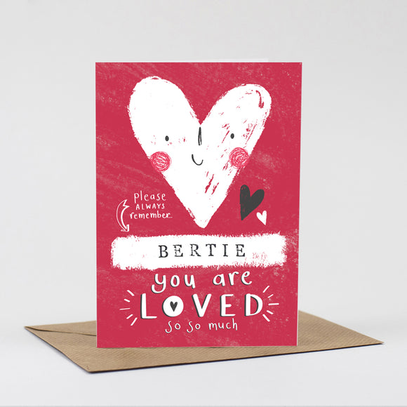 Personalised Valentines Card
