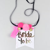 Statement Necklace Bride to Be Gift