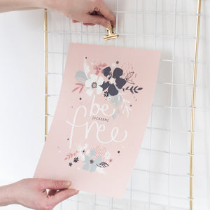 Be Free Floral Print