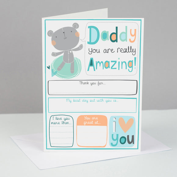 Father's Day Card To Keep FOREVER....for Daddy
