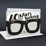 40th Birthday Card Glasses