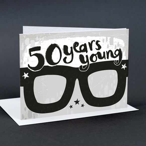 50th Birthday Card Glasses