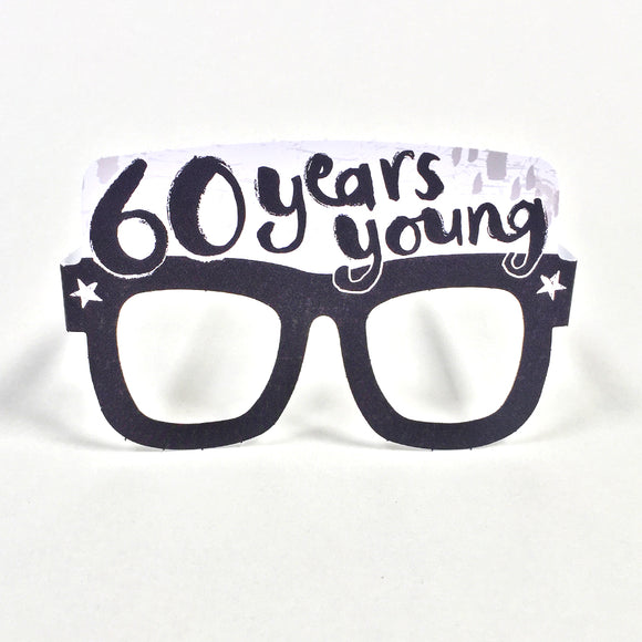 60th Birthday Card Glasses