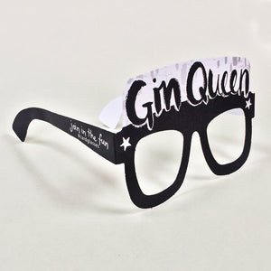 Gin Queen Card Glasses