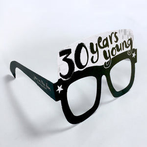 30th Birthday Card Glasses