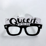 Queen for the Day Card Glasses
