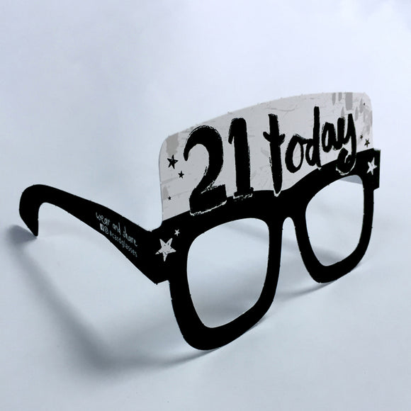 21st Birthday Card Glasses