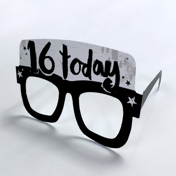 16th Birthday Card Glasses