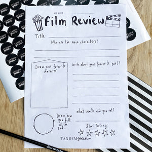 Printable Film Review Writing Template