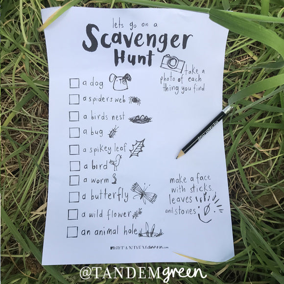 Scavenger Hunt Printable