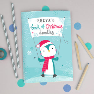 Personalised Drawing Book with Christmas Cover