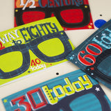 70th Birthday Card Glasses for him