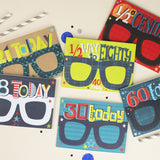 18th Birthday Card Glasses for him