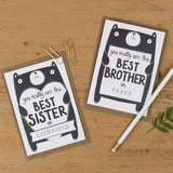 Personalised Best Brother Birthday Card