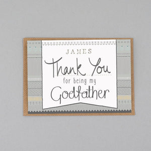 Personalised Thank you for being my Godfather card