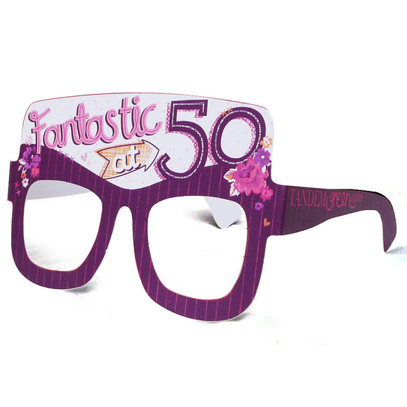 50th Birthday Card Glasses for her