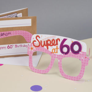 60th Birthday Card Glasses for her