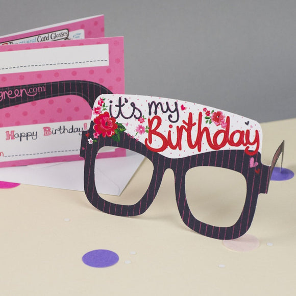 Birthday Card Glasses for her