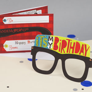 Birthday Card Glasses for him