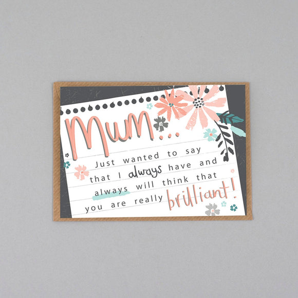 Brilliant Mum Mother's Day Card