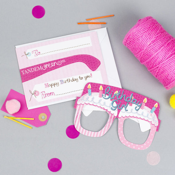 Birthday Cake Card Glasses