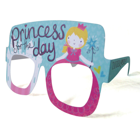 Princess Birthday Card Glasses