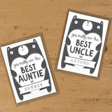 Personalised Best Aunty or Auntie birthday card